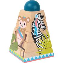 Lesene puzzle - piramida JUNGLE (12m+), Small Foot