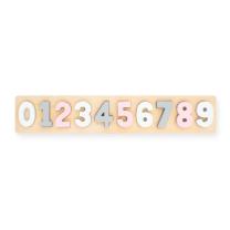 Lesene otroške puzzle ROZA ŠTEVILKE (24m+) Jollein®