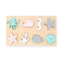 Lesene otroške puzzle MORSKE ŽIVALI (24m+) Jollein®