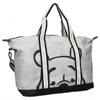 Melange siva nakupovalna torba Medvedek Pu, Shop till you drop, Disney