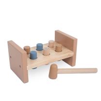 Modra lesena igrača s kladivom (12m+), Jollein