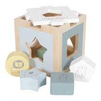 MODRA didaktična kocka za razvršanje oblik Zoo (12m+); Little Dutch