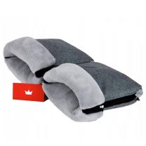 JEANS  MELANGE SIVE muf rokavice za voziček SIV PLIŠ - ZADRGA CandyFlex