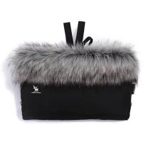 Črna - SREBRNA enojna rokavica za voziček (univerzalna) SHINE YUKON, Cottonmoose