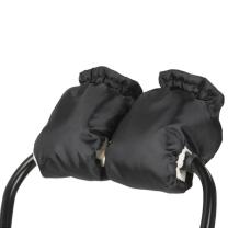 ČRNE muf rokavice za voziček - KREMNO BEL flis BabayMax