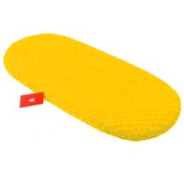 MUSTARD rumena ovalna jogi rjuha za košek PLIŠ