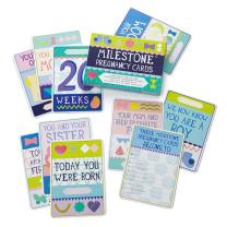 MILESTONE™ kartice za fotografiranje nosečnice ANG