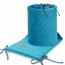 TURKIZNA obroba za posteljico, VELVET (180x30 cm), MAMO-TATO
