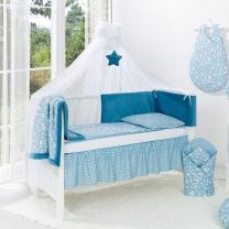 Otroški baldahin - komarnik petrol modra zvezda