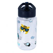 Navy modra otroška steklenička TIGER z očali (450 ml), Pret