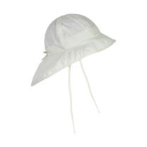 Kremno bela otroški klobuček z UV zaščito (UPF 50+) 6-12 m, MARSHMALLOW WHITE– En Fant