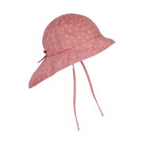 Roza otroški klobuček z UV zaščito (UPF 50+) 6-12 m, ROSETTE SRČKI – En Fant
