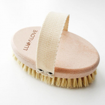 Ovalna krtača za suho masažo, Lullalove