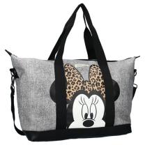 Melange siva nakupovalna torba Minnie Mouse, Shop till you drop, Disney