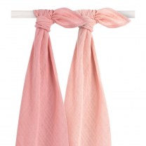ROZA - PUDRASTO ROZA tetra plenica BAMBUS (115x115 cm) – 2 kosa, Jollein®