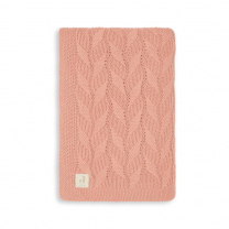 Koralno roza pletena odeja SPRING KNIT, Rosewood 75x100 cm