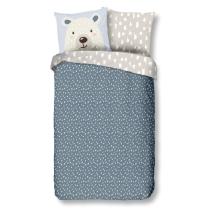 Petrol modra otroška posteljnina SEVERNI MEDVED 140x200/220 cm, Good Morning