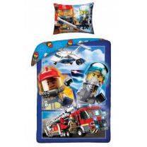 Posteljnina Lego City gasilci 140x200 cm