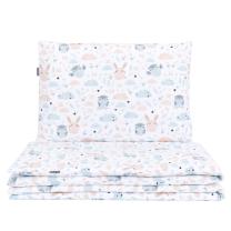BELA 2-delna posteljnina SOVICA IN ZAJČEK 135x100 cm, MAMO-TATO