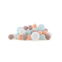 Bombažne lučke PREMIUM Sweet Macaron, komplet 20 lučk