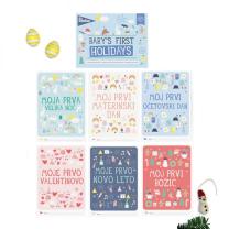 MILESTONE™ kartice za fotografiranje dojenčka SLO - First Holidays