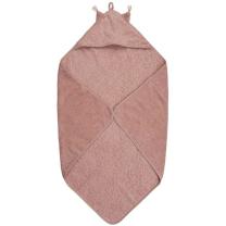 Pudrasto roza brisača s kapuco iz organskega bombaža UŠESKA, Pippi®