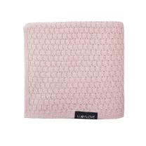 Pudrasto roza MERINO odeja METULJ, Lullalove 90x100 cm - PREMIUM