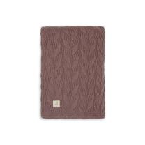 Rjava dvostranska pletena odeja SPRING KNIT, Chestnut 75x100 cm, Jollein