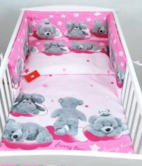 Roza 3-djelna posteljina PLIŠANII MEDVJEDI 135x100 cm