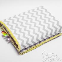 Pokrivač ili podloga za igru ŽARKO ŽUTA - SIVA CIK CAK