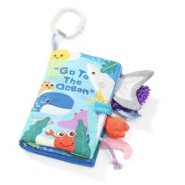 Modra senzorična knjigica GO TO THE OCEAN (0m+), BabyOno