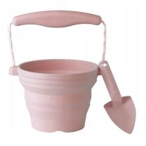 Pudrasto roza silikonsko otroško vedro z lopatko (12m+), Scrunch
