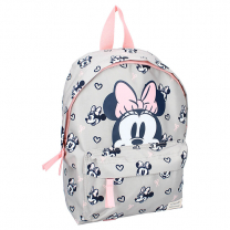 Svetlo siv otroški nahrbtnik Minnie Mouse, We meet again, Disney