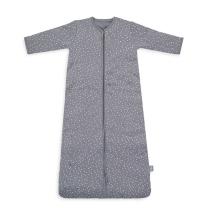 Siva spalna vreča PIKICE NEPRAVILNIH OBLIK 4-SEASONS, 18 m+, Jollein