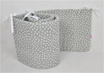 siva obroba bele pike nepravilnih oblik 210x30 cm