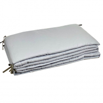 Siva obroba za posteljico 420x30 cm, Largo