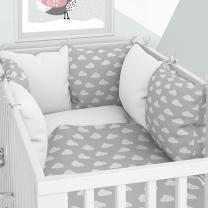 posteljnina oblački z obrobo iz blazin