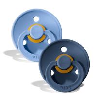 Duda BIBS - Sky Blue & Steel Blue 0-6M (2 kosa)