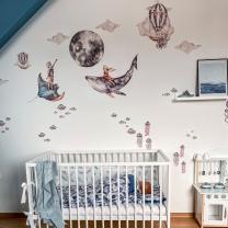 Stenske nalepke za otroško sobo OCEAN DEEP, Malumi