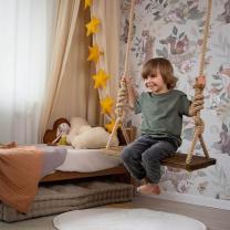 Stenske tapete za otroško sobo WOODLAND GREY (100x280cm), Malumi