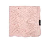 svetlo roza pletena odeja ŠKOLJKE 80x100 cm Lullalove