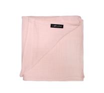 svetlo roza povijalna plenička 100x100 cm lullalove