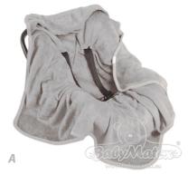 SVJETLO SIVA zimski pokrivač KOALA 95x95 cm