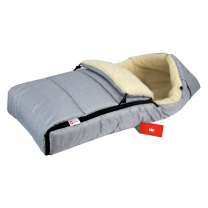 Jeans svetlo siva zimska vreča 90 cm - 100% ovčja volna