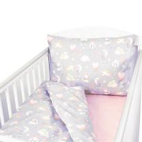 Siva 2-delna posteljnina ZAJČEK 150x120 cm Largo