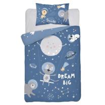 Temno modra posteljnina za fotografiranje SPACE ADVENTURE 135x100 cm