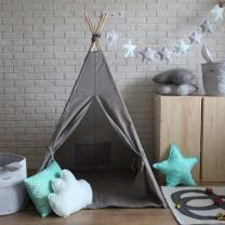 Temno siv šotor Babo Tipi, podloga 120x120 cm
