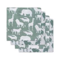 Zelene tetra pleničke SAFARI (70x70 cm) – 4 kosi, Jollein®