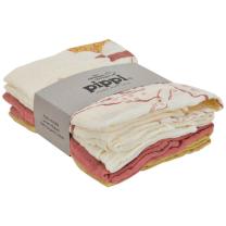 Tetra plenice organski bombaž Pippi - pastelno roza in rumene (4 kos)