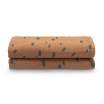 Karamel rjava tetra plenica PIKE (115x115 cm) – 2 kosa, Jollein®